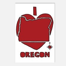 Cool Oregon love Postcards (Package of 8)