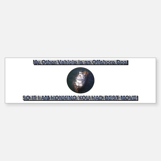 """My Other Vehicle"" Boat Bumper Bumper Sticker"