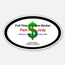 Part-Time Jody Hard Hat Decal