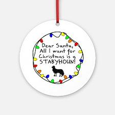 Dear Santa Stabyhoun Christmas Ornament