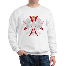 Polish Eagle Red Maltese Cros Sweatshirt