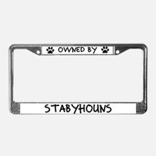 Owned by Stabyhouns License Plate Frame