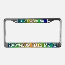 Do what Stabyhoun License Plate Frame