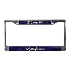 Funky Love Stabyhoun License Plate Frame