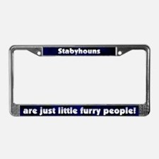 Furry People Stabyhoun License Plate Frame