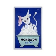 Monsavon Au Lait Rectangle Magnet