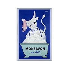 Monsavon Au Lait Rectangle Magnet (100 pack)