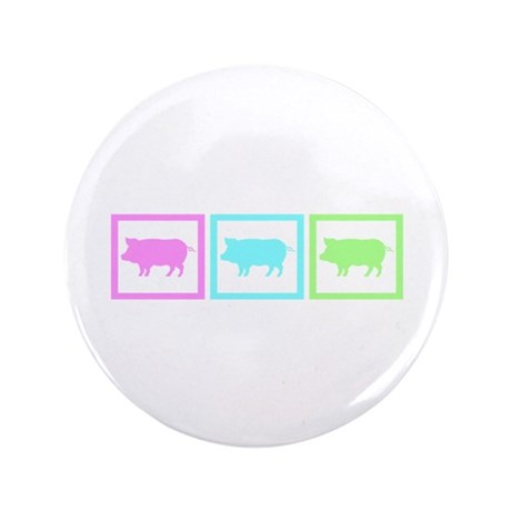 "Pig Squares 3.5"" Button (100 pack)"