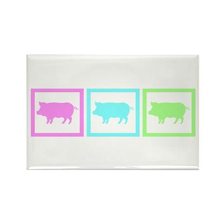 Pig Squares Rectangle Magnet (10 pack)