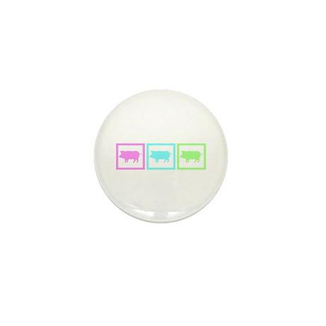 Pig Squares Mini Button (100 pack)