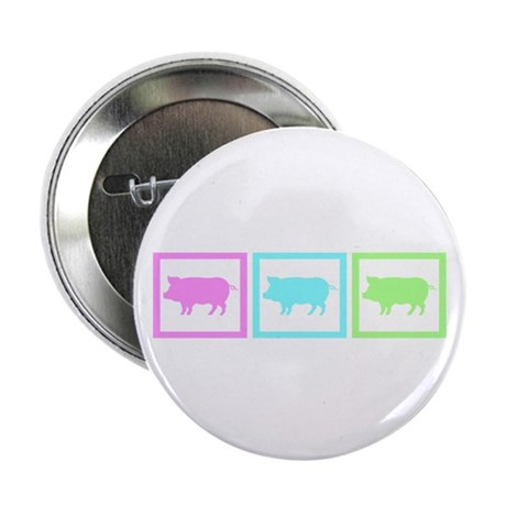 """Pig Squares 2.25"""" Button (100 pack)"""