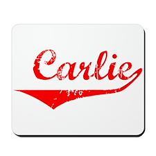 Carlie Vintage (Red) Mousepad