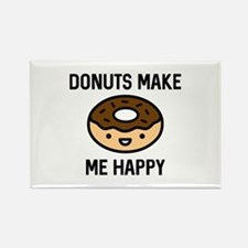 Donuts Make Me Happy Rectangle Magnet