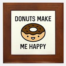 Donuts Make Me Happy Framed Tile