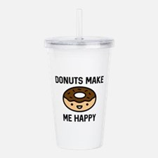 Donuts Make Me Happy Acrylic Double-wall Tumbler