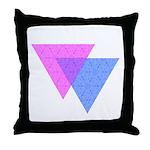 Bi Knot Symbol Throw Pillow