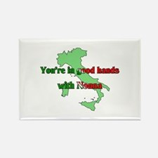 Your in good hands with Nonna Rectangle Magnet