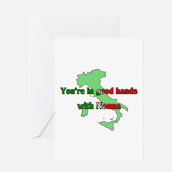 Your in good hands with Nonna Greeting Card