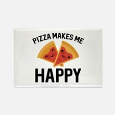 Pizza Makes Me Happy Rectangle Magnet