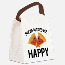 Pizza Makes Me Happy Canvas Lunch Bag