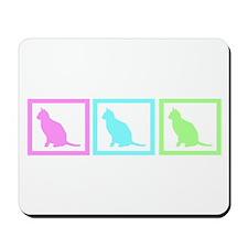 Cat Squares Mousepad