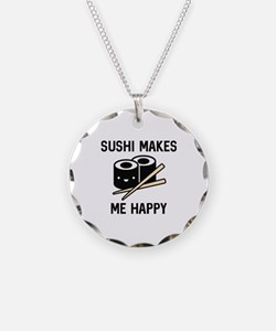 Sushi Makes Me Happy Necklace