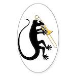 Gecko Trombone Sticker (Oval)