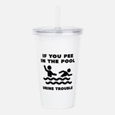 Urine Trouble Acrylic Double-wall Tumbler