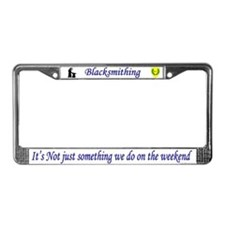 Not Just Blacksmithing License Plate Frame