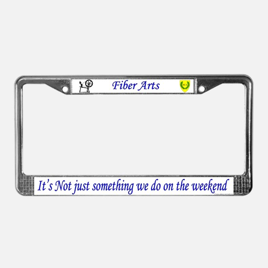 Not Just Fiber Arts License Plate Frame
