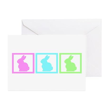 Rabbit Pastel Squares Greeting Cards (Pk of 20)