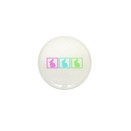 Rabbit Squares Mini Button