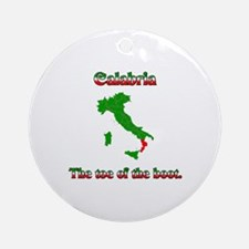 Calabria, the toe of the boot. Ornament (Round)