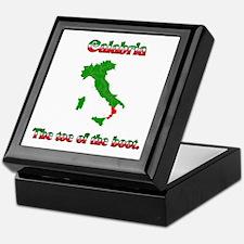Calabria, the toe of the boot. Keepsake Box