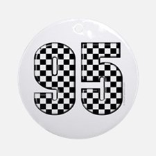 Racing Number 95 Ornament (Round)