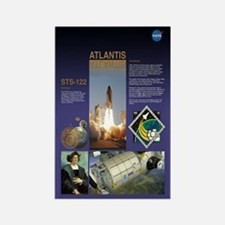 STS 122 Mission Poster Rectangle Magnet