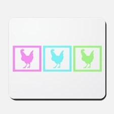 Chicken Squares Mousepad