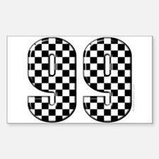 Motor Sport Number 99 Rectangle Decal