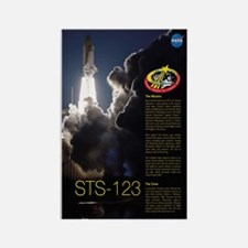 STS 123 Endeavour Rectangle Magnet