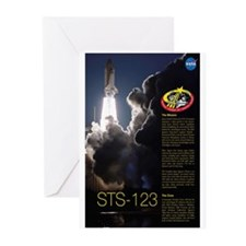 STS 123 Endeavour Greeting Cards (Pk of 10)