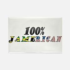 100% Jamerican Rectangle Magnet