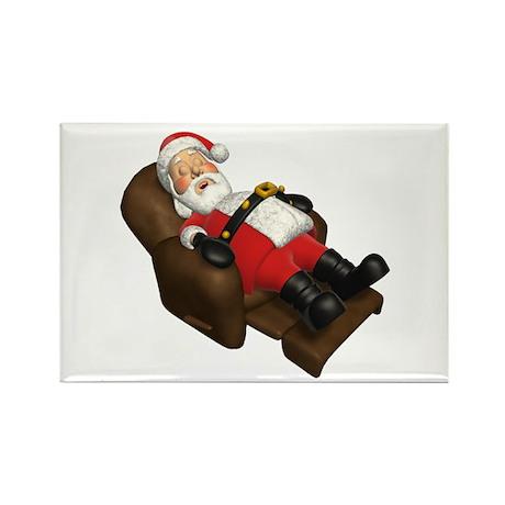 Sleeping Santa Rectangle Magnet (100 pack)