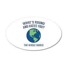 The Whole World 22x14 Oval Wall Peel