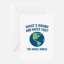The Whole World Greeting Card