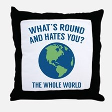 The Whole World Throw Pillow