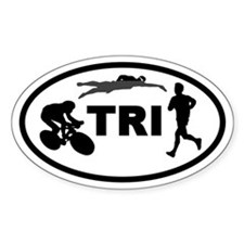 Triathlete Oval Decal
