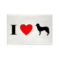 I Heart Stabyhoun Rectangle Magnet