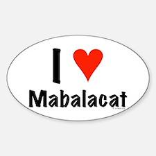 I love Mabalacat Oval Decal