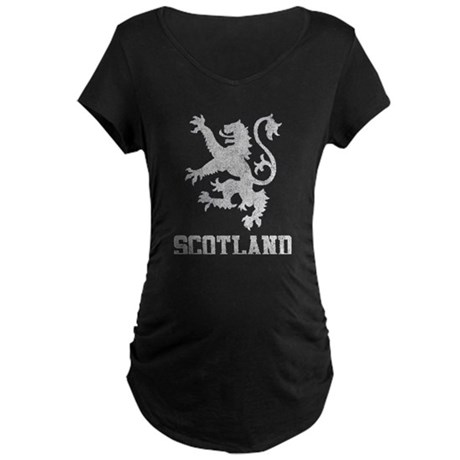 Vintage Scotland Maternity Dark T-Shirt