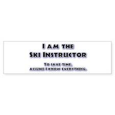 Ski Instructor Bumper Bumper Sticker